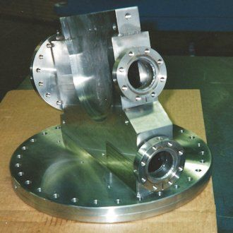 Vessel Body Machined with Precision Located Conflat Ports
