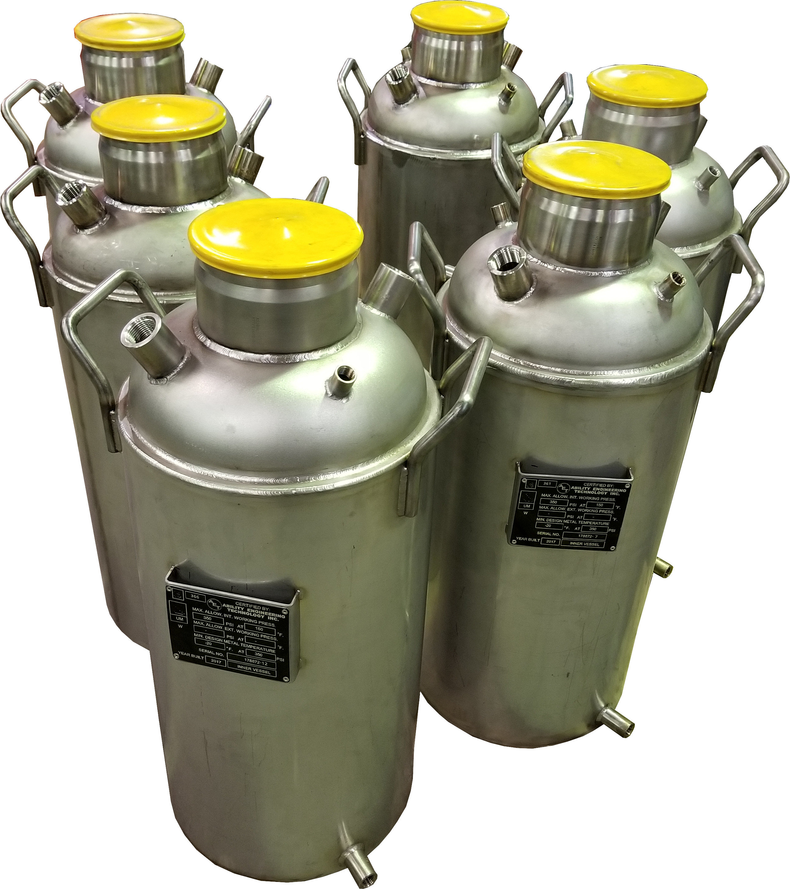 Jacketed Ferrulle Top Vessels