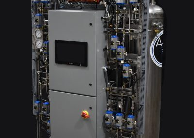 Dual-Bed Cryogenic Purifier with Control Cabinets and Front-Accessible Equipment